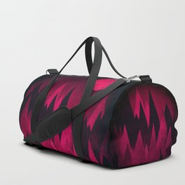 Dark Triangles (Peak Woods) Abstract Grunge Mountains Design (red/black) Duffle Bag