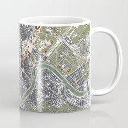 Rome city map engraving Coffee Mug