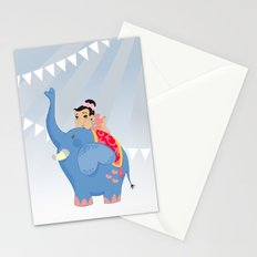 Blue Circus Stationery Cards
