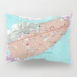 Vintage Map of Galveston Texas (1954) 2 Pillow Sham