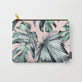 Island Love Coral Pink + Green Carry-All Pouch