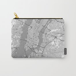 New York Map Line Carry-All Pouch