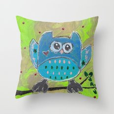 One for the owl Throw Pillow