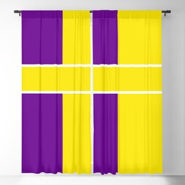Team Colors 6....Yellow,purple Blackout Curtain