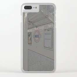 Temple station London 5 Clear iPhone Case