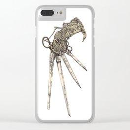 Scissorhands (Sepia-L) Clear iPhone Case