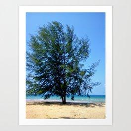 Tree On Seaside Art Print