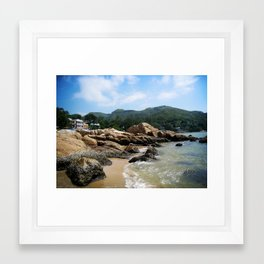 Silvermine Bay Beach Framed Art Print