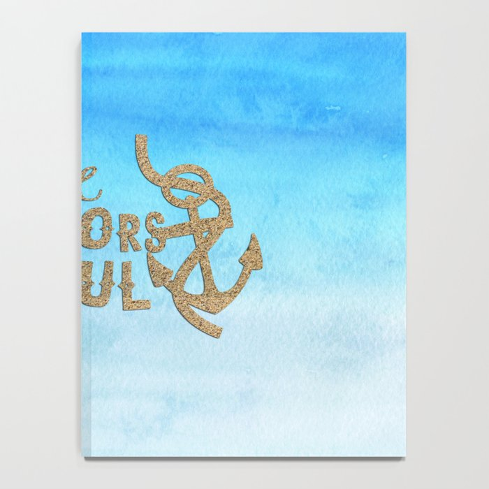 Hope anchors the soul - Simple Typography maritime Notebook