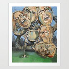 Deity of Emotions  Art Print