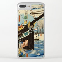 TIR-FA - Japan Print - Western traders at Yokohama transporting merchandise Clear iPhone Case
