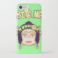 dmmd iPhone & iPod Cases featuring Bite Me by zamiiz