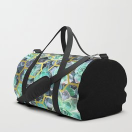 Succulent Geometric Modern Illustration Duffle Bag