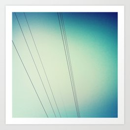 Power lines.  Art Print