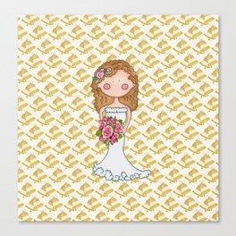 Wedding Bell Bride Canvas Print