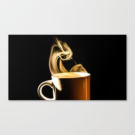 Steaming cup of Coffee Canvas Print