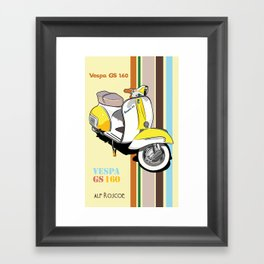 STRIPED VESPA YELLOW Framed Art Print