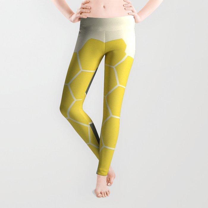 Yellow Honeycomb Leggings