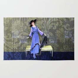1913 LUXE - VINTAGE FASHION: FRENCH BLUE-VERT Rug