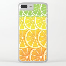 Grapefruit, lemon, orange and lime slices Clear iPhone Case