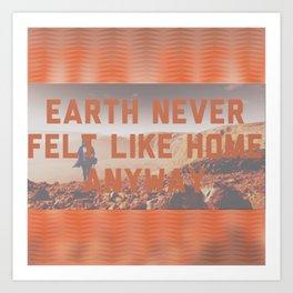 Roaming Mars Art Print