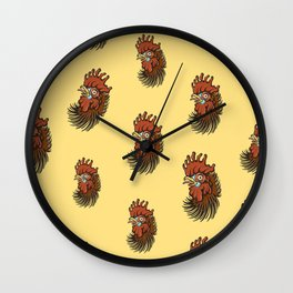 Cock-a-Doodle Pattern Wall Clock