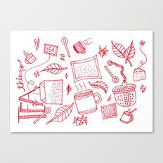 Tea things Canvas Print