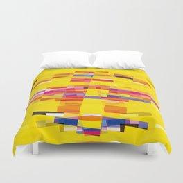 yellow pixel storm Duvet Cover