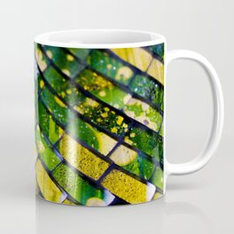 Abstract green and yellow pattern of morroccan style tiles Coffee Mug