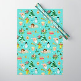 A Vintage Christmas Wrapping Paper