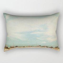 Sleepy Beach Town #2 Rectangular Pillow