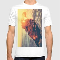 Sunrise over the Clouds Mens Fitted Tee White MEDIUM