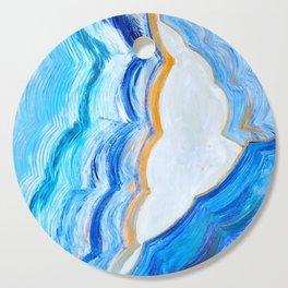 Blue and gold agate Cutting Board