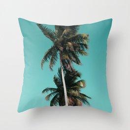 Palm tree vibes Throw Pillow