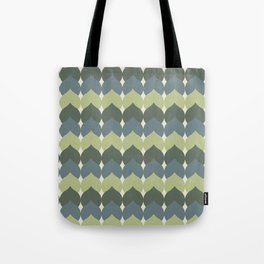 Deco Leaves in Celery Green and Blue Tote Bag