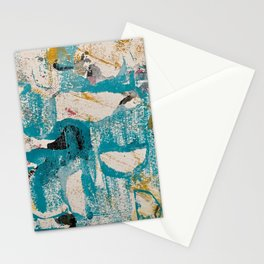 Teal and Ochre Design Stationery Cards