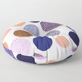 big chrysanthemum dots Floor Pillow