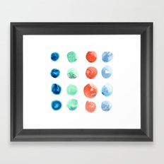 Abstract Watercolor Dots Framed Art Print