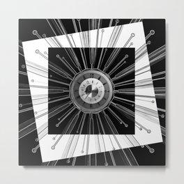 Mono Tock - Sunburst clock Metal Print