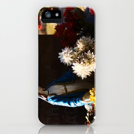 Mary among the flowers iPhone Case