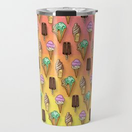 Ice Cream Pattern I Travel Mug