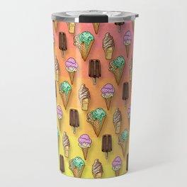 Ice Cream Pattern I Travel Mug