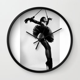 Just Hanging Around in Latex and Tutu Wall Clock