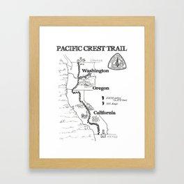 Map of PCT Framed Art Print