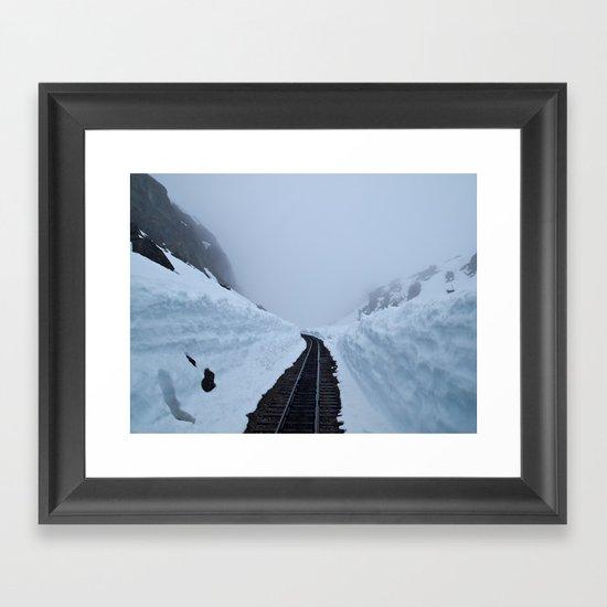 The winter pass Framed Art Print