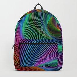 Psychedelic Spiral Stripes Backpack