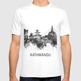 Kathmandu Nepal Skyline BW T-shirt