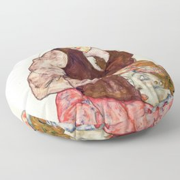 "Egon Schiele ""Lovers"" Floor Pillow"