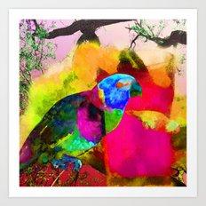 Parrot talk Art Print