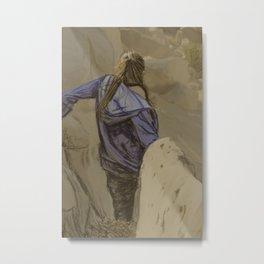 Hiking in the Desert Metal Print